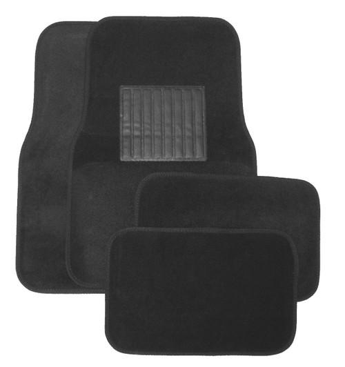 Charcoal Plastic Floor Mat 4pc