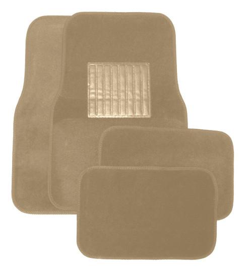 Tan Plastic Floor Mat 4pc