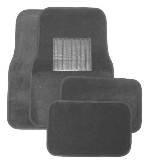 Grey Plastic Floor Mat 4pc