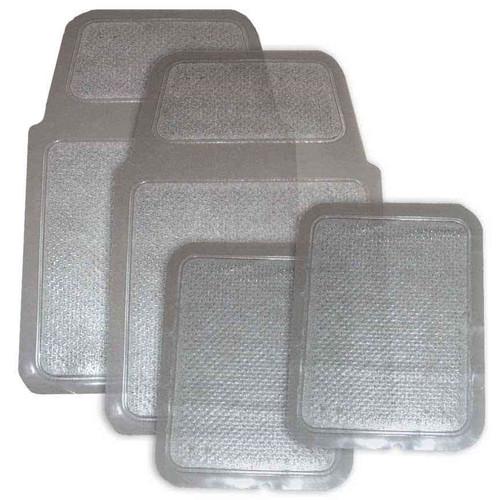 Clear Plastic Floor Mat 4pc