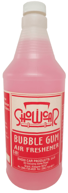 SHOWCAR fragrances are a special blend of perfume and deodorizers specially designed to eliminate unwanted odors at their source.  Apply with sprayer or mix with water base shampoos and upholstery cleaners.  Also Available in Gallons.