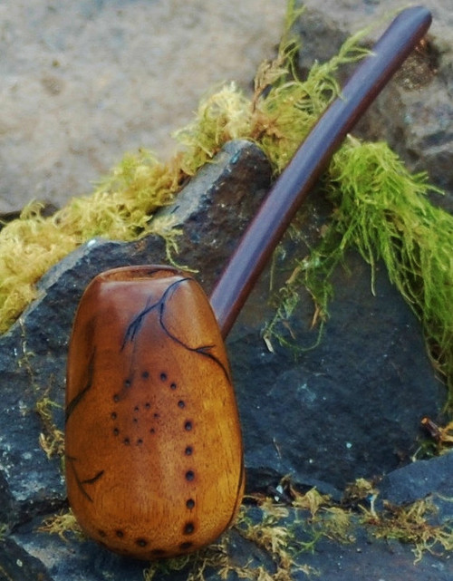Dragon Egg Pipe Freehand Rusticated