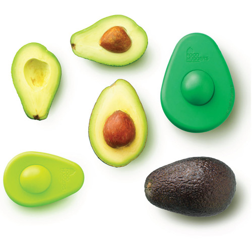Large and small Avocado Hugger with avocados.