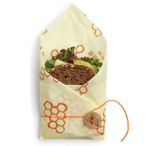 Bee's  Wrap Sandwich Wrap in Honeycomb Print