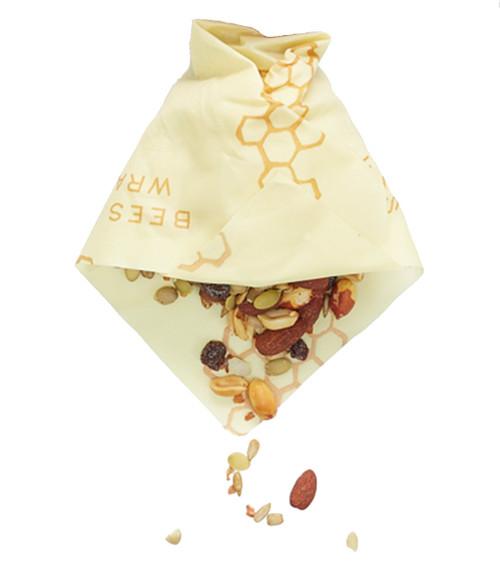 Bees Wrap Honeycomb Print Single Medium Wrap wrapping nuts.