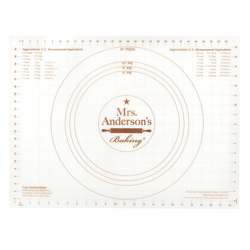 Mrs. Anderson's Baking Pastry Mat with US Measurements on a white background
