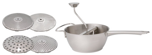 The food mill 2 quart with four blades on a white background