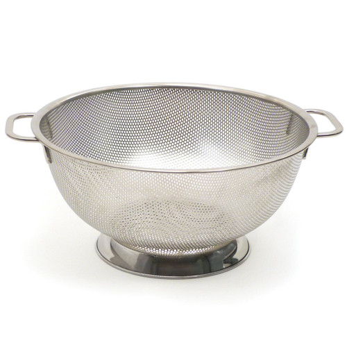 RSVP Endurance Precision Pierced Stainless Steel Colander 5Qt on a white background