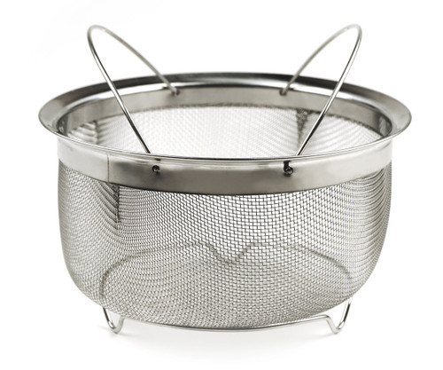 RSVP Endurance Stainless Steel Mesh Basket with Folding Handles 3Quart