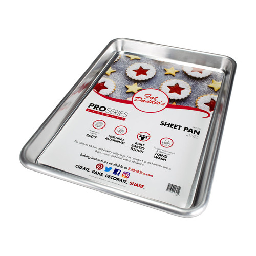 Fat Daddio's Half Sheet Pan - Aluminum - 18 x 13 x 1 Inches