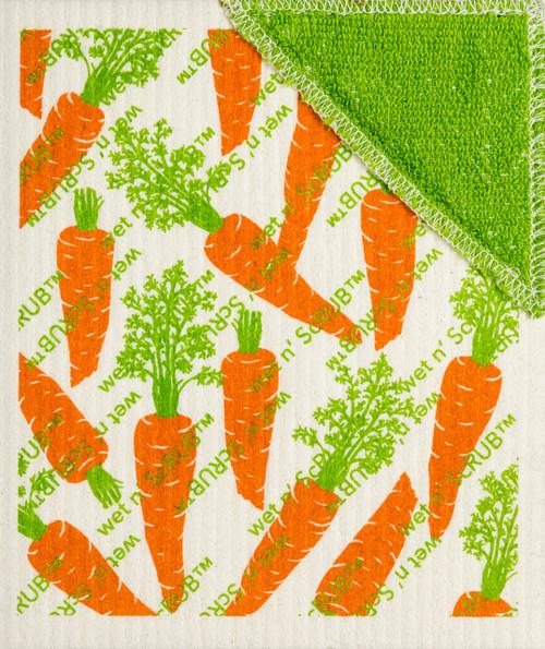 Wet-It! Carrots Wet'n Scrub Swedish Cloth
