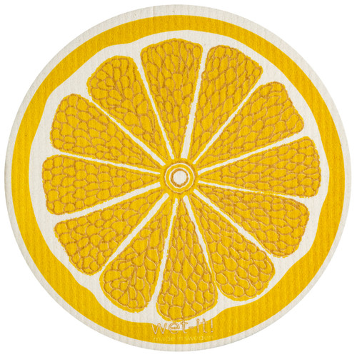 Wet-It! Lemon Round Swedish Cloth