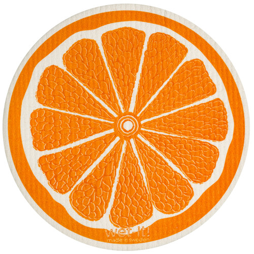 Wet-It! Orange Round Swedish Cloth