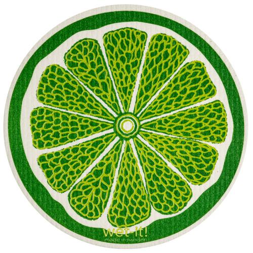 Wet-It! Lime Round Swedish Cloth