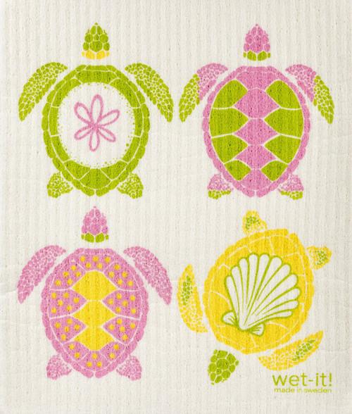 Wet-It! Multi Turtle Swedish Cloth