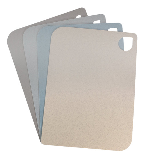All 4 of the Eco Home Cutting Mats in pastel colors on a white background