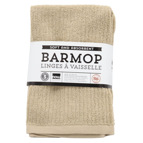Bar mop kitchen towel in Sandstone in packaging on a white background