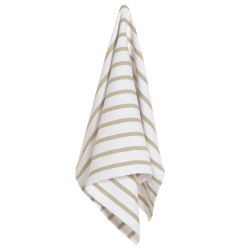 Now Designs Basketweave Dishtowel Sandstone out of packaging with a white background
