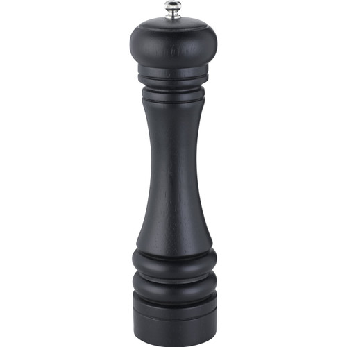 Trudeau 10-Inch Seville Pepper Mill, Espresso Stained Wood on white background without packaging