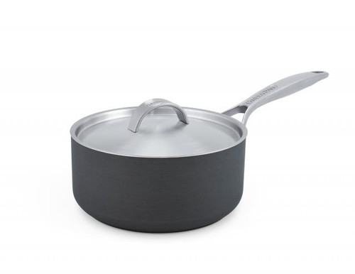GreenPan Paris Pro 2 Quart Saucepan with Lid on white background