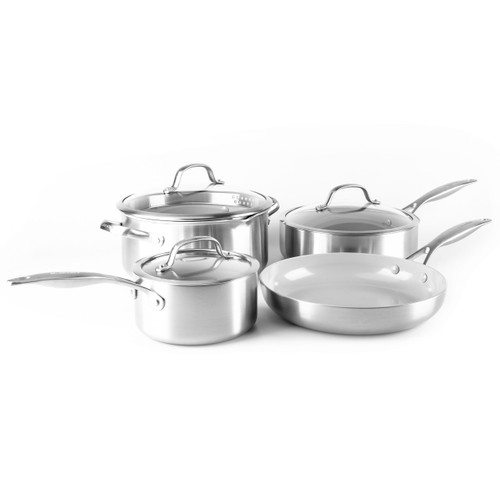 GreenPan Venice Pro 7 Piece Cookware Set on white background