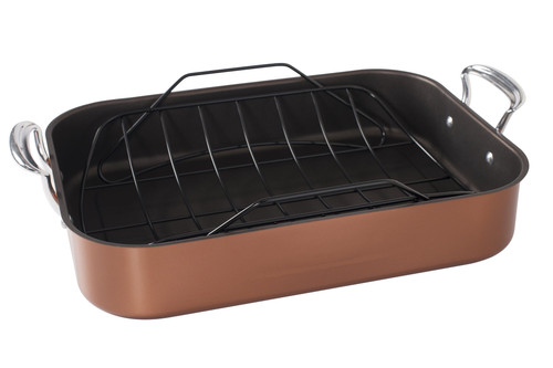 Nordic Ware Extra Large Non-Stick Roasting Pan and Rack on a white background