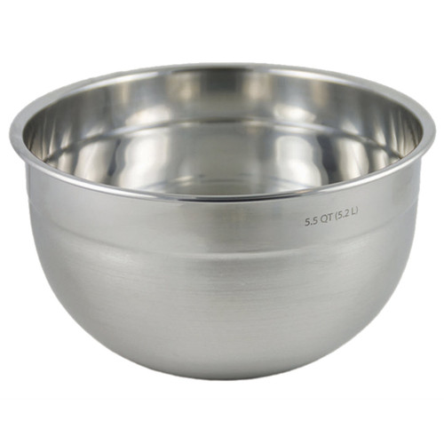 The Tovolo Stainless Steel Mixing Bowl 5.5-quart on a white background