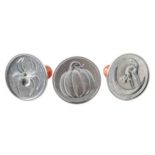 The Nordic Ware Halloween Cookie Stamps on a white background