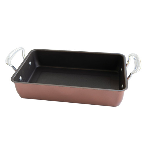 The Nordic Ware Large Roasting Pan with a white background
