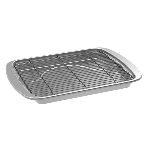 The Nordic Ware Oven Crisp Baking Tray on a white background