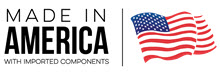 Nordic Ware's Made in America with Imported Components Logo