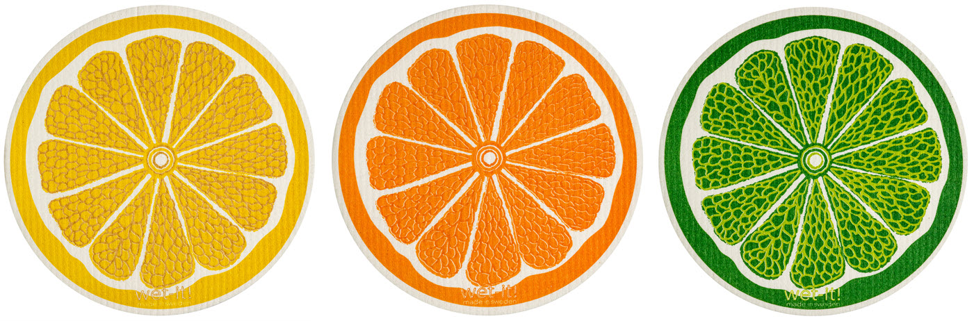 Wet-It! Lemon lime and orange cloths