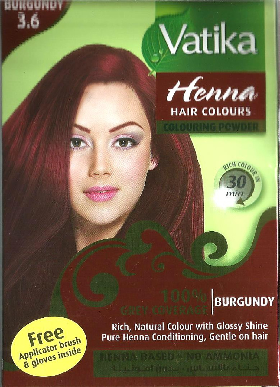 Vatika Henna Hair Colours Burgundy India Town Gifts