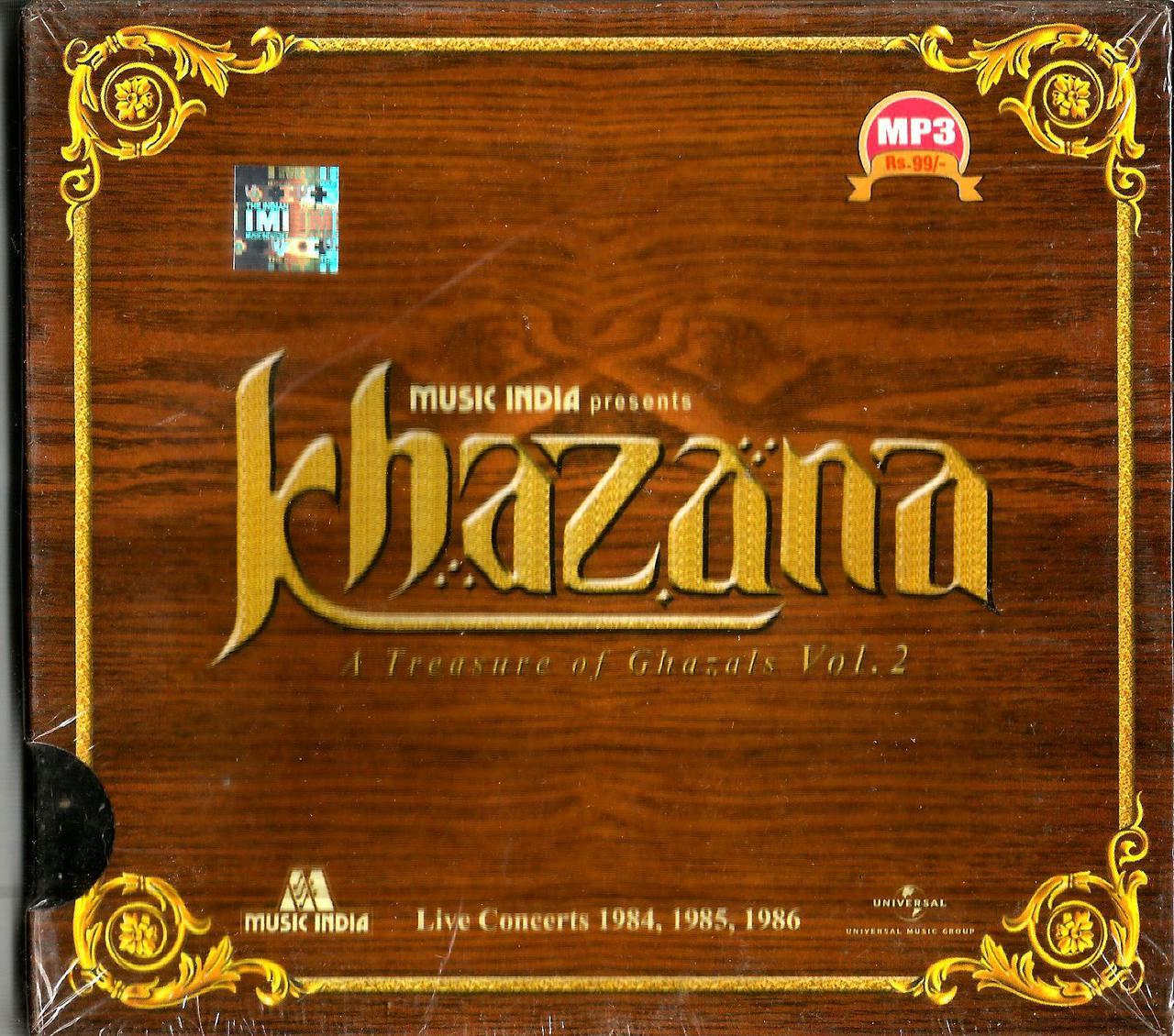 Khazana A Treasure Of Ghazals Vol 2-Live Concerts 1984,1985,1986 / MP3
