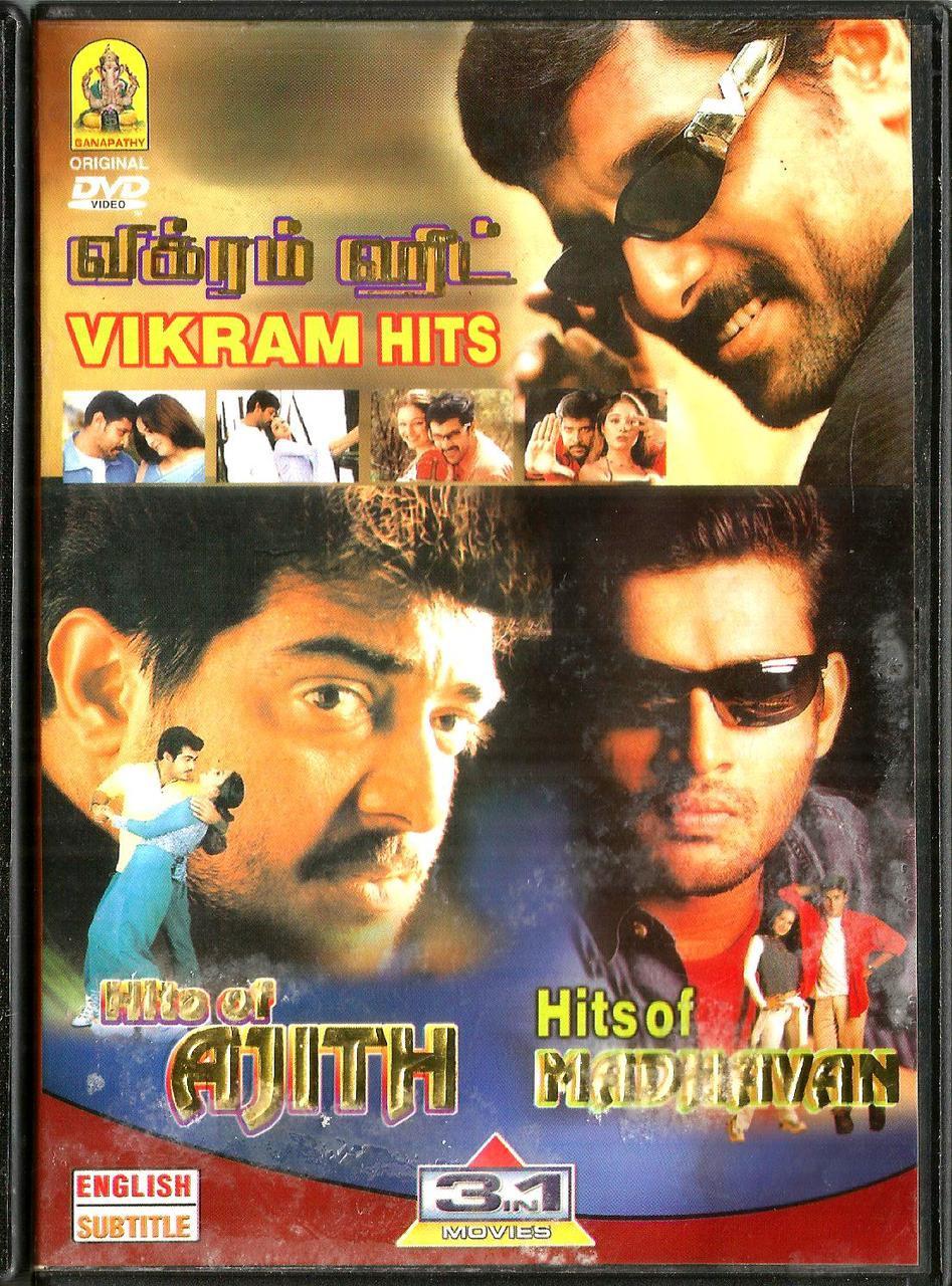 Hits Of Madhavan / Vikram Hits / Hits Of Ajith / 3 IN 1 / Tamil