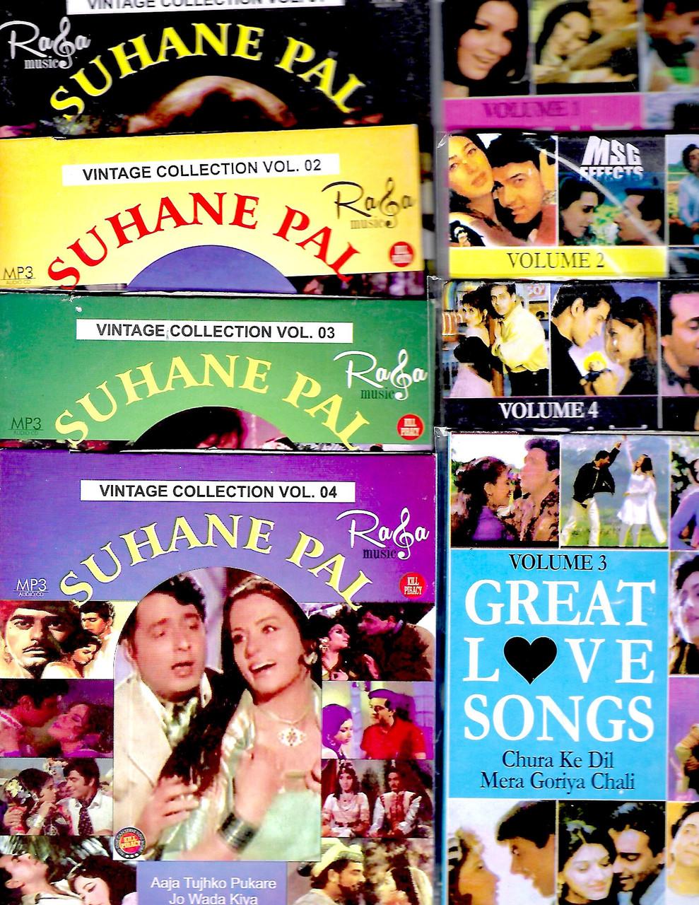 Suhane pal vol 1,2,3,4 / Great Love Songs Vol 1,2,3,4 ( 8 in 1 ) USB