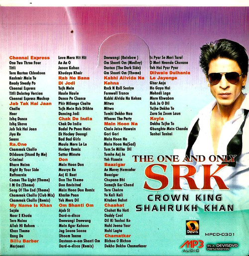 The One And Only SRK Crown King Shahrukh Khan / MP3