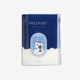 Pocket passport case - 04 Happy cat