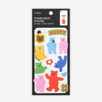 Phone Deco Sticker - 03 Jelly bear