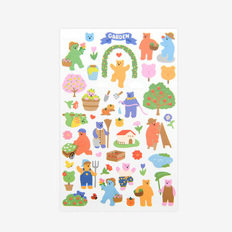 Jelly  Bear Sticker - 03 Garden