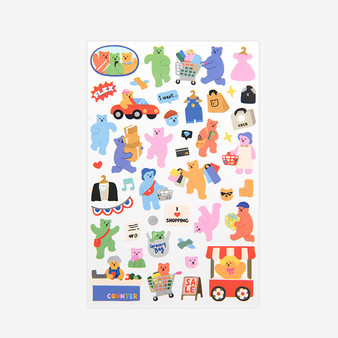 Jelly Bear Sticker - 04 Shopping