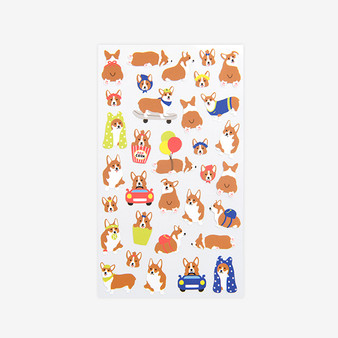 paper sticker - 15 Welsh Corgi