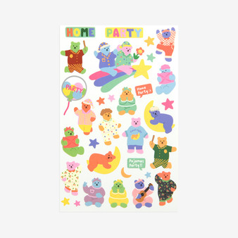 Jelly Bear Sticker - 13 Pajamas party