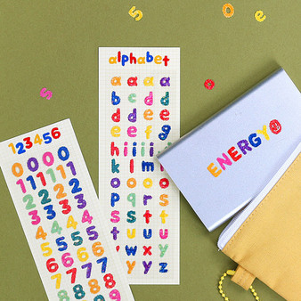 Mongle Alphabet & Number Stickers (Hologram)