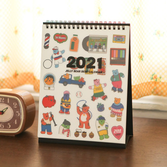 2021 Jelly Bear Desk Calendar