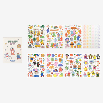 Transparent Remover Sticker Set (Jelly Bear)