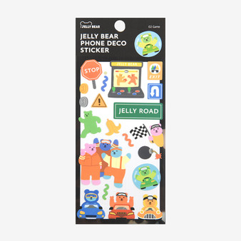 Jelly Bear Phone Deco Sticker - 02 Game