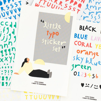 Little things typographic sticker set (alphabet+number)