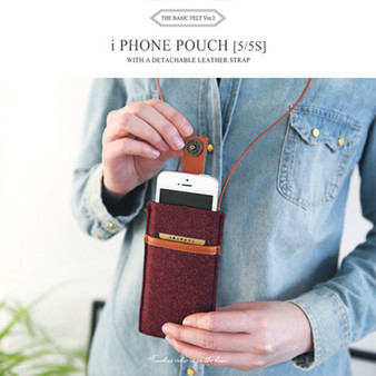 The Basic Felt iPhone Pouch 5-5s V.2