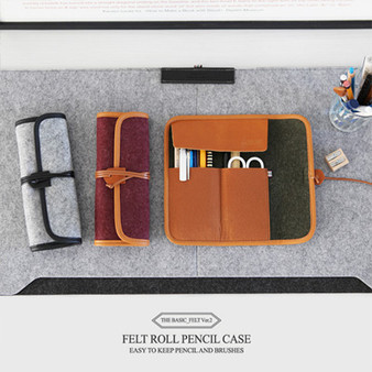 The Basic Felt Roll Pencil Case V.2